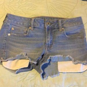 American Eagle light wash shorts